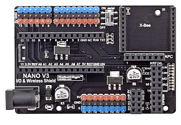 Nano V3.0 I/O & Wireless Shield